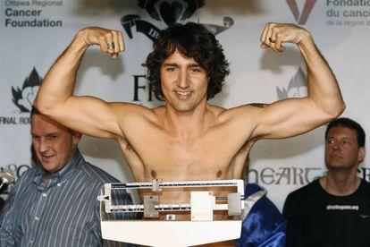 Justin Trudeau em evento de gala beneficente.