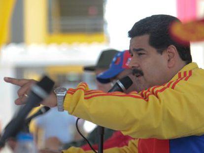 Nicolás Maduro, durante um ato político nesta quarta-feira.