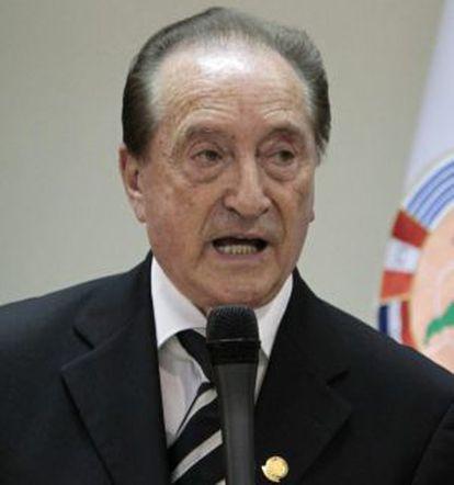 O presidente da Conmebol, o uruguaio Eugenio Figueredo.