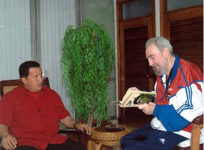 Com Hugo Chávez, em 13 de outubro de 2007