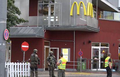 O McDonalds atacado em Munique