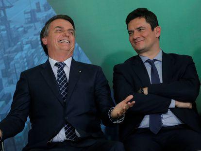 Bolsonaro e Moro em dezembro passado.