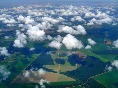 Vista aérea de Sinop (MT), de onde parte o projeto da Ferrogrão.