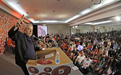 Lula discursa no Congresso do PT.