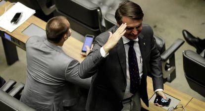 Jair Bolsonaro na Câmara.
