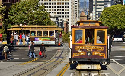 Bonde em San Francisco, Califórnia.