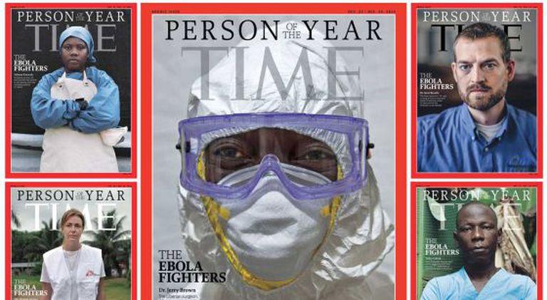 As cinco capas dedicadas aos lutadores contra o ebola.