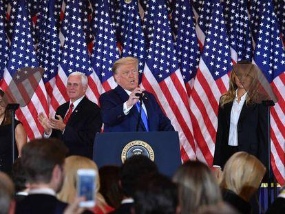 O presidente dos EUA, Donald Trump, na Casa Branca nesta quarta-feira.