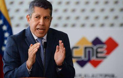 O candidato a presidente da Venezuela, Henri Falcón, em 2 de março.