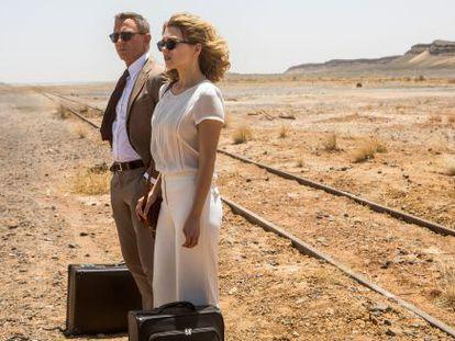 Daniel Craig e Lea Seydoux em uma cena do filme '007 Contra Spectre'.