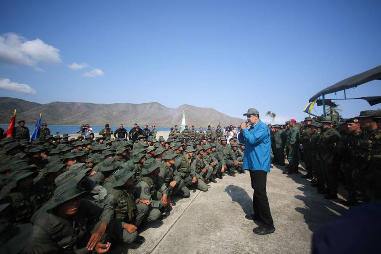 Maduro, neste domingo, em Turiamo (Venezuela) durante exercícios militares.