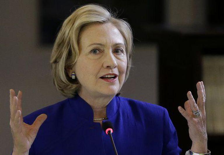 A ex-secretária de Estado, Hillary Clinton, em julho.