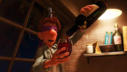 Alfredo Lingüine, fazendo uma experiência com alguns sentidos bloqueados em 'Ratatouille'