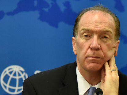 O presidente do Banco Mundial, David Malpass, na reunião anual em outubro de 2019.
