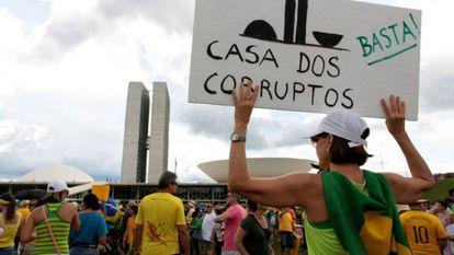 Protesto em Brasília em 2016.