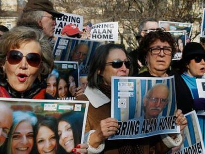 Manifestação a favor da libertação de Alan Gross.