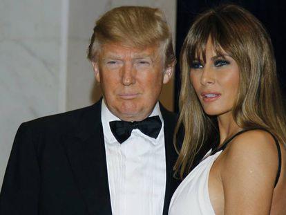 Donald Trump e sua esposa Melania no Jantar dos Correspondentes, em 2011.