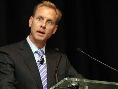 Patrick Shanahan, durante uma coletiva em 2009 sobre a Boeing