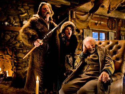 Cena do filme 'Oito Odiados', de Tarantino.