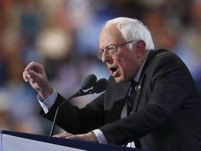 Bernie Sanders, em julho