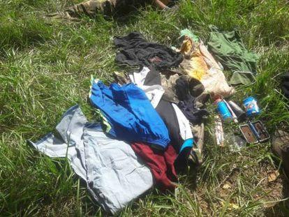 Restos da operação em que foi morto Reinaldo Araújo, um dos líderes do PCC escondidos no Paraguai