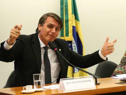 O deputado Jair Bolsonaro, pré-candidato à Presidência, em uma sessão na Câmara.