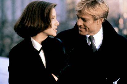 Debra Winger e Robert Redford em ' Perigosamente Juntos'.
