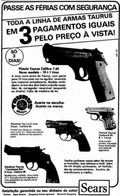 Anúncio loja de departamentos em revista nos anos de 1980.
