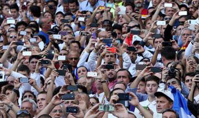 Espectadores de um jogo de futebol