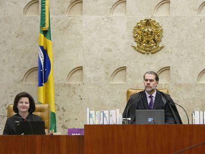 A procuradora-geral, Raquel Dodge, e o presidente do STF, Dias Toffoli.