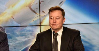 Elon Musk no evento MWC, em Barcelona, em junho passado.