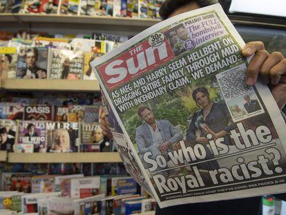 Capa do 'The Sun' em Londres nesta terça-feira.