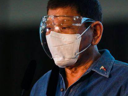 O presidente das Filipinas, Rodrigo Duterte, neste sábado, em Manila.