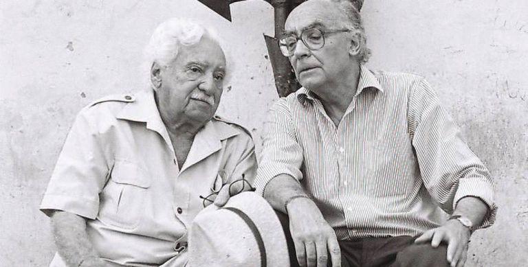 Jorge Amado e José Saramago.