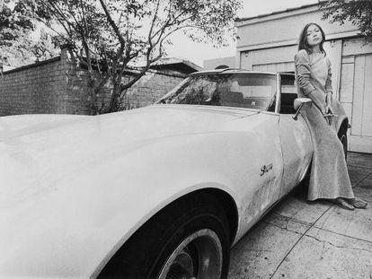A escritora Joan Didion.