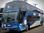 Trovão Azul, o ônibus utilizado pelo Grêmio no ano do rebaixamento.