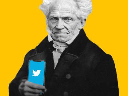 Schopenhauer tuiteando sobre a morte