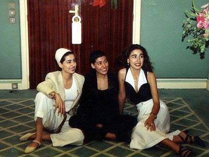 As princesas Sahar, Maha em Marrocos.