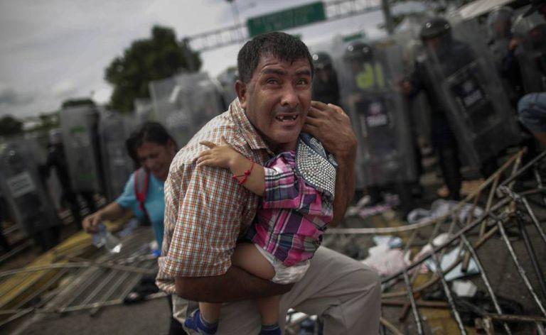Uma das imagens premiadas de Marcelino da Caravana Migrante.