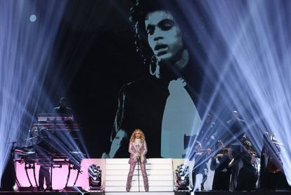 Madonna em uma cerimônia de premiação em 2016 em Las Vegas.