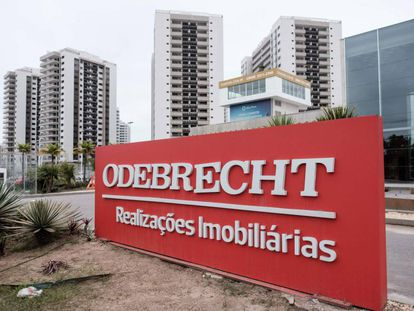 Logo da Odebrecht no Rio de Janeiro.