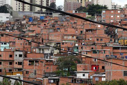 Vista geral da favela de Paraisópolis, zona sul da capital paulista.
