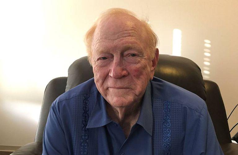 Paul McCaghren durante a entrevista no asilo de idosos onde vive, em Dallas.