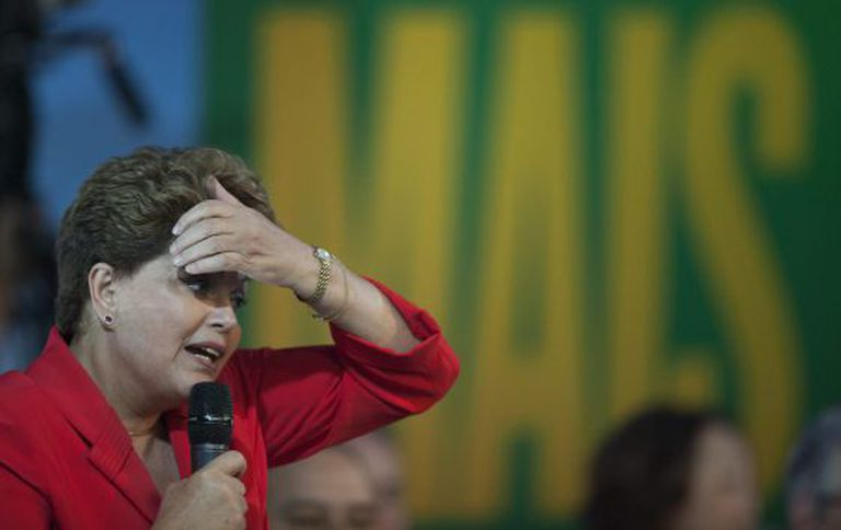 Dilma Rousseff no ultimo dia 31 em Guarulhos.