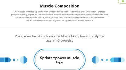 Herança genética no tipo de músculo.