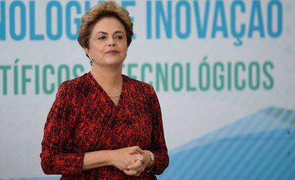 Dilma em cerimônia no Palácio do Planalto, em janeiro.