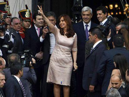 Cristina Fernández na abertura da legislatura do Congreso.