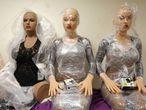 Robôs sexuais de silicone em uma loja de Estrasburgo (França).