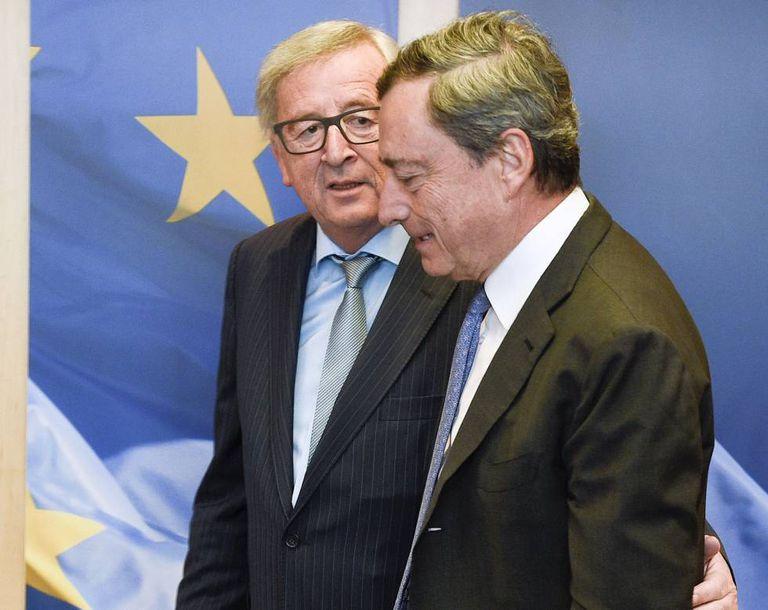 Jen-Pierre Juncker e Mario Draghi
