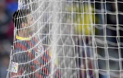 Messi, depois de falhar em uma jogada.